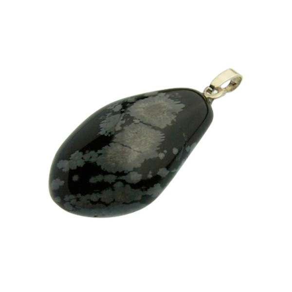 Snowflake obsidian pendant