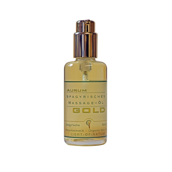 Gold skin and massage oil