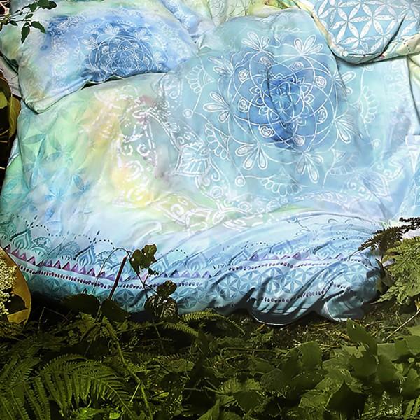 Duvet cover with precious stones - Blue Dream - 100% organic cotton