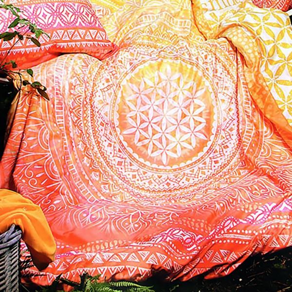 Duvet cover with precious stones - Sunrise - 100% organic cotton