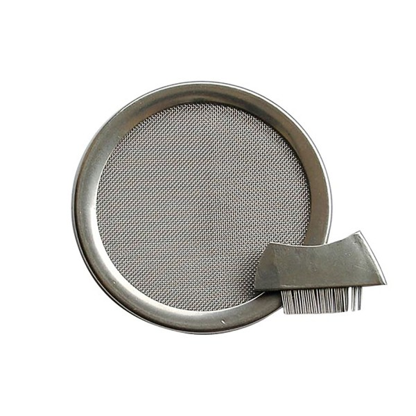 Stainless steel incense sieve 6 cm with brush