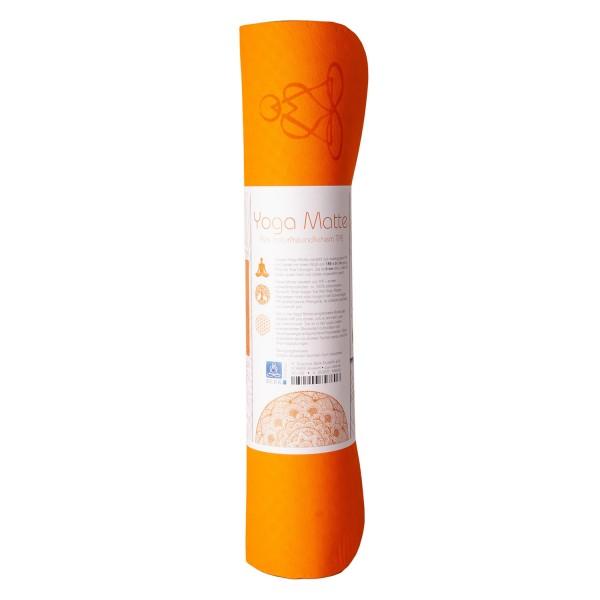 Yoga mat Balance - Orange - environmentally friendly (TPE)
