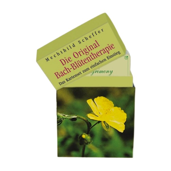Original Bach flower therapy as a card set
