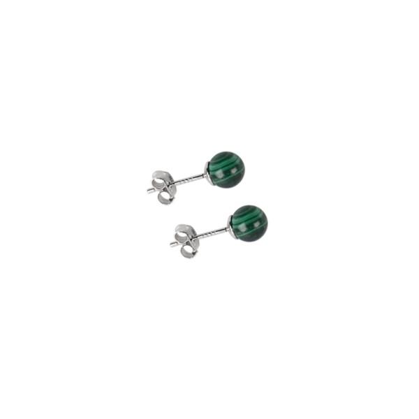 Malachite stud earrings