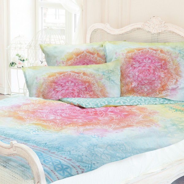 Duvet cover with precious stones - Rainbow - 100% organic cotton