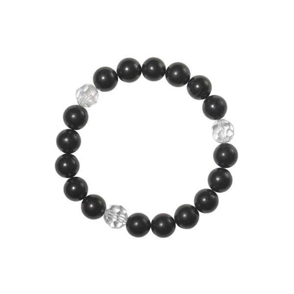 Shungite bracelet with rock crystal
