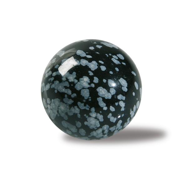 Snowflake obsidian stone ball