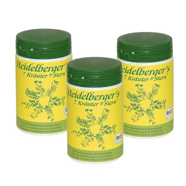 Pack of 3 Heidelbergers 7 herbs star BIO